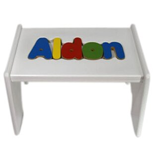 Tolbert Child Wooden Puzzle Personalized Step Stool by Zoomie Kids