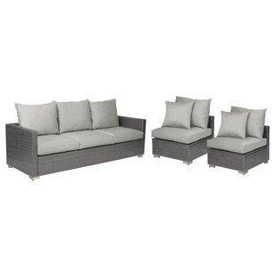 Sarver 3 Piece Sofa Set With Cushions by Ivy Bronx Coupon