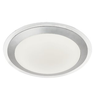 Bathroom shaver light wayfair bathroom 1 light led flush mount aloadofball Choice Image