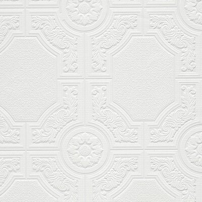 "Milligan 33' x 21"" Textured Paintable Roll Wallpaper"