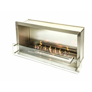 Single Sided Ethanol Fireplace by BioFlame