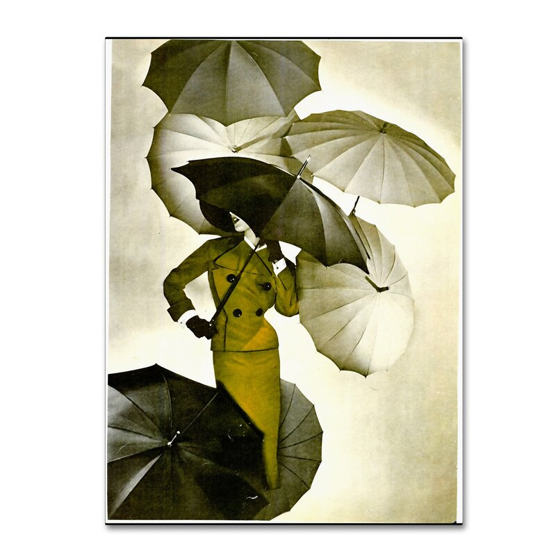 Trademark Art \'Umbrella\' Wall art on Wrapped Canvas   Wayfair