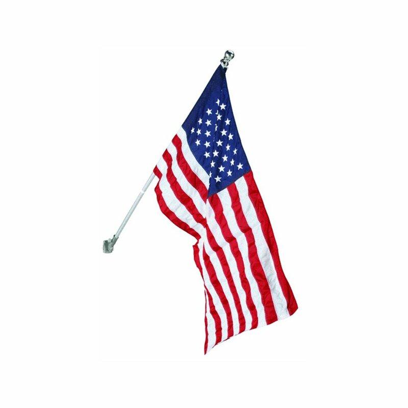 Trinx American 2 Sided Nylon 30 X 48 In Flag Set Reviews Wayfair