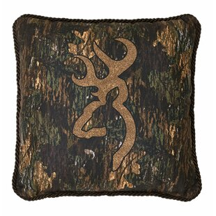 3D Buckmark Cotton Throw Pillow