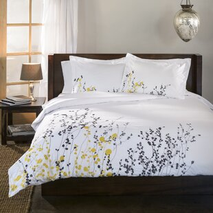 Reed 3 Piece Embroidered Reversible Duvet Cover Set