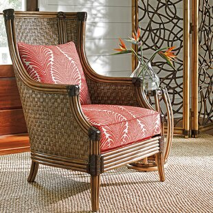 Twin Palms Coral Reef Wingback Chair by Tommy Bahama Home