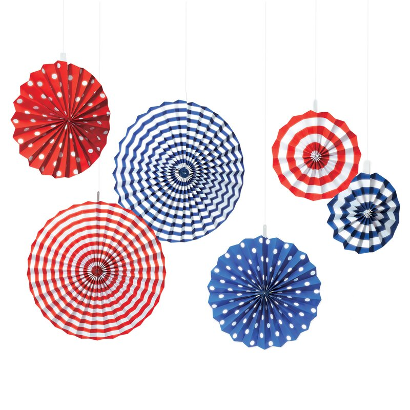 Patriotic American Summer Fan Decorations