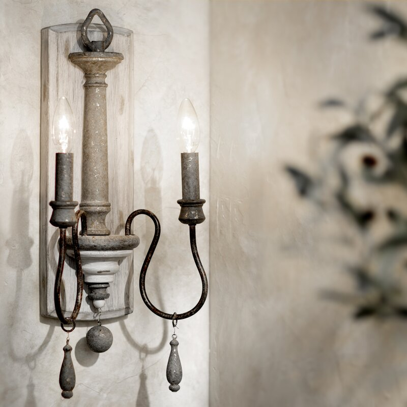 Armande 2-Light Candle Wall Light - a lovely wall sconce option for your French country home!