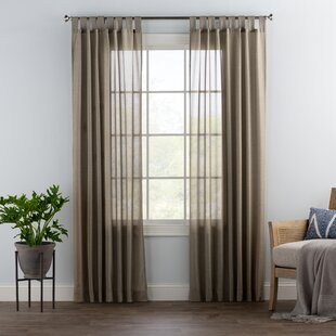 Brown Tab Top Curtains Drapes You Ll Love In 2021 Wayfair