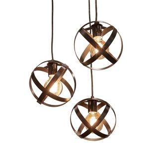 Frome 3 Light Globe Chandelier