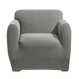 Stretch Morgan Box Cushion Armchair Slipcover