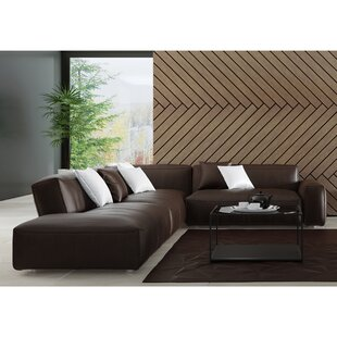 Zoraida Leather Sectional by Orren Ellis