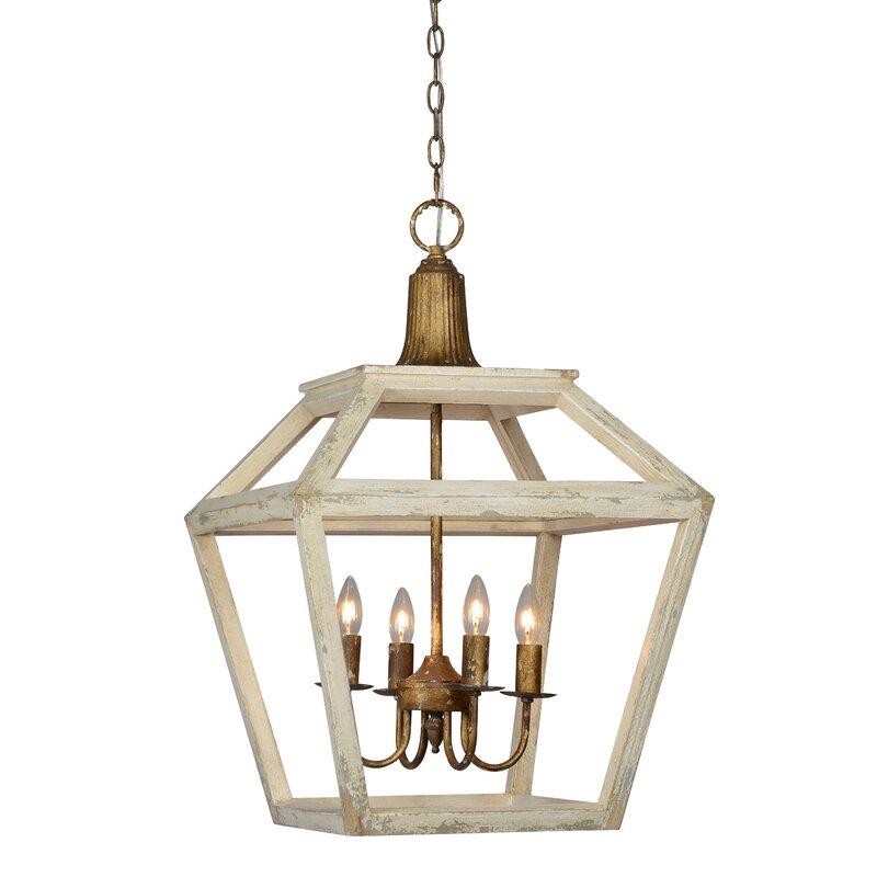 Rosalind Wheeler Scuderi 1 Light Lantern Geometric Pendant With Wood Wayfair