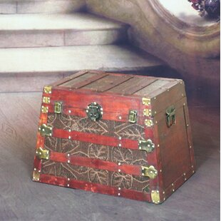 Pyramid Wooden Trunk by Quickway Imports