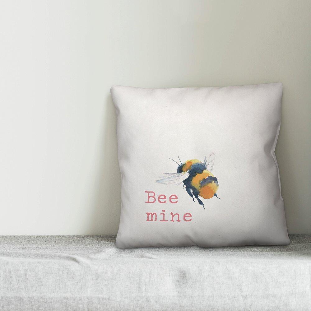 Ebern Designs Drayton Bee Mine Throw Pillow Wayfair