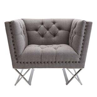 Caseyville Fabric Diamond Armchair