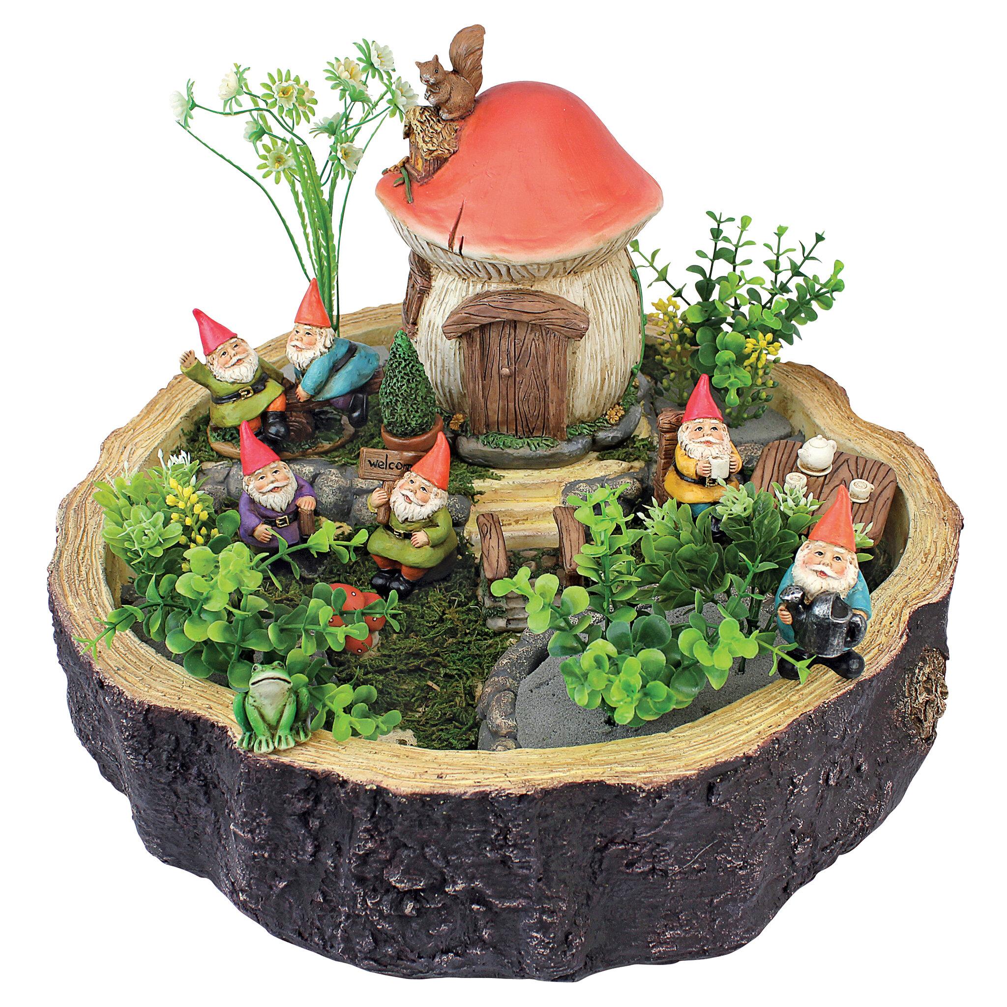 Design Toscano Tiny Forest Friends Gnome Fairy Garden U0026 Reviews | Wayfair