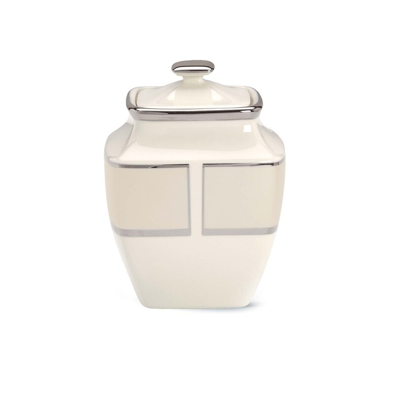 Ivory Frost Sugar Bowl with Lid