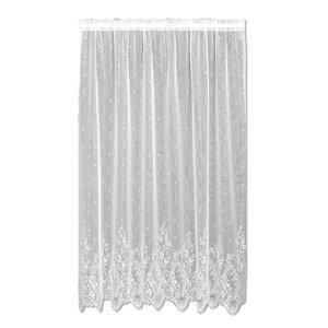 Victor Nature/Floral Sheer Rod Pocket Single Curtain Panel