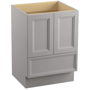 Damask? 24 Vanity with Toe Kick, 2 Doors and 1 Drawer by Kohler