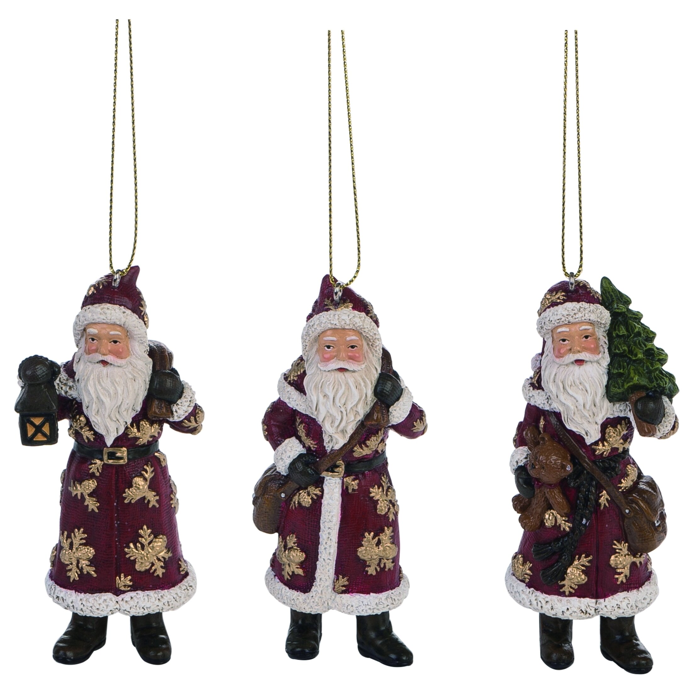 The Holiday Aisle 3 Piece Father Hanging Figurine Ornament Set Wayfair