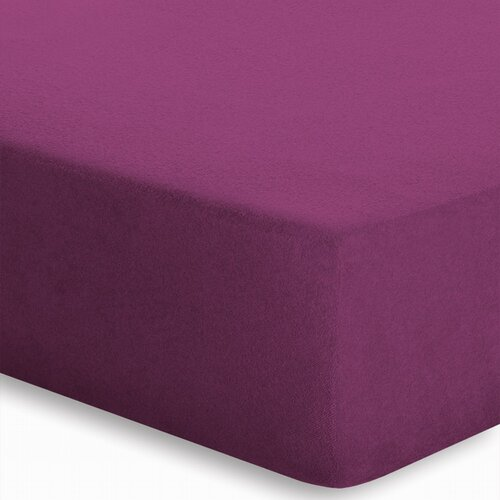 Spannbettlaken Frottee-Stretch schlafgut Farbe: Beere| Größe: 180-200 B x 200 L cm | Heimtextilien > Bettwäsche und Laken | schlafgut