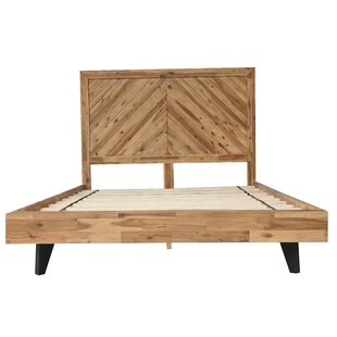 Fiskeville Acacia Wood Panel Bed