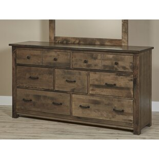 Reviews Linscott Bench Built 7 Drawer Dresser by Millwood Pines