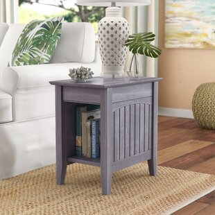 Affordable Price Glenni Rectangular End Table with Storage By Highland Dunes