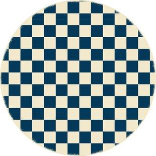 Case Checker Blue/White Indoor/Outdoor Area Rug