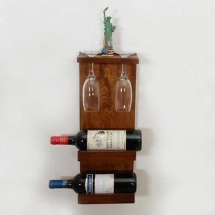 Belwood Decorative 2 Bottle Wall Mounted Wine/Glass Rack by Fleur De Lis Living