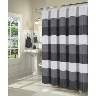 525ff023040 Mauldin Waffle Weave Fabric Single Shower Curtain