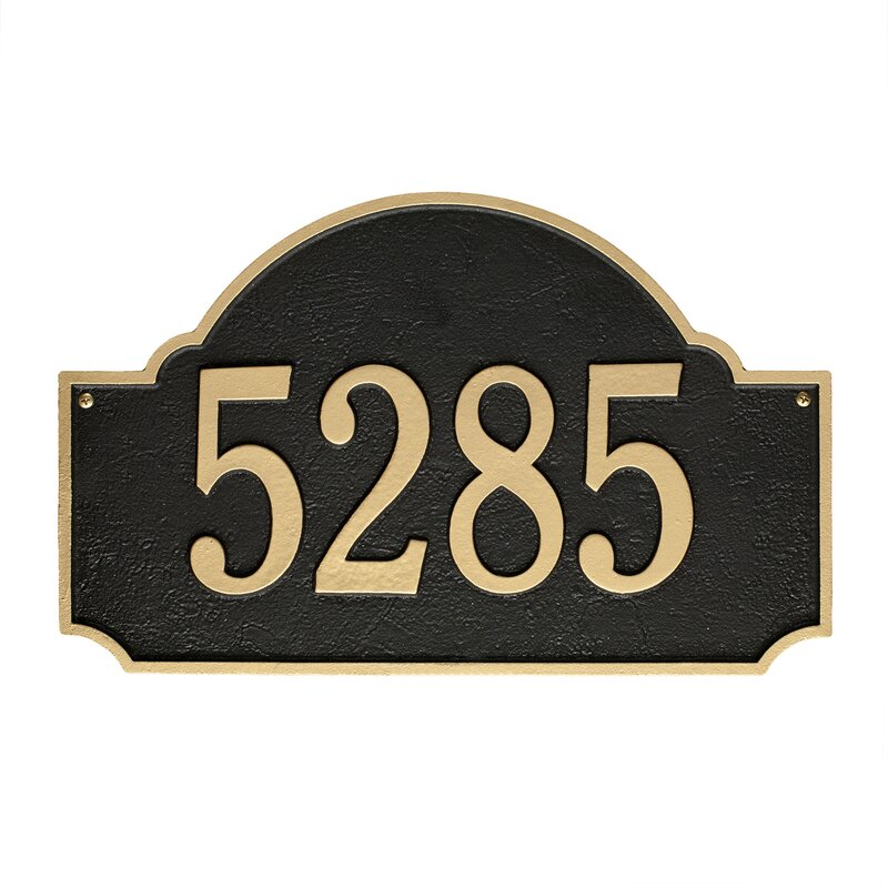 Old Century Forge Fitzwilliams 1 Line Wall Address Plaque Reviews Wayfair