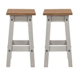 Louroukina Solid Wood 20 Short Stool (Set of 2) by August Grove®
