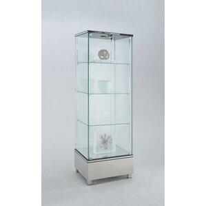 Tamas Glass Curio Cabinet by Orren Ellis