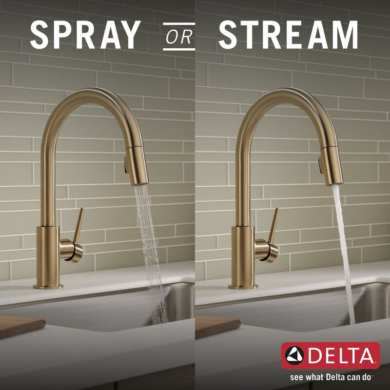 Delta Kitchen Faucets.Delta Trinsic Pull Down Single Handle Kitchen Faucet With