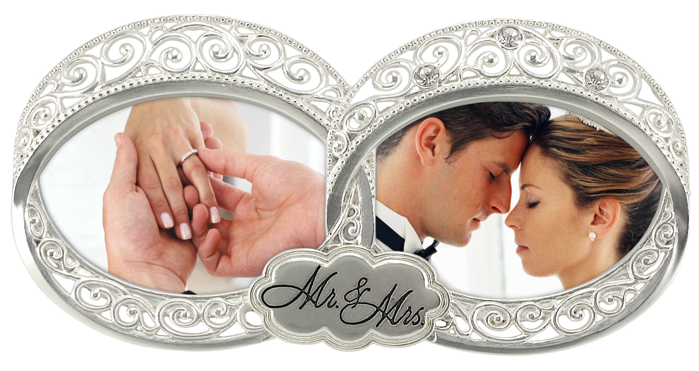 Malden Double Wedding Ring 2-Opening Picture Frame & Reviews | Wayfair