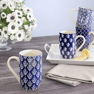 Clair Blue 4 Piece Coffee Mug Set