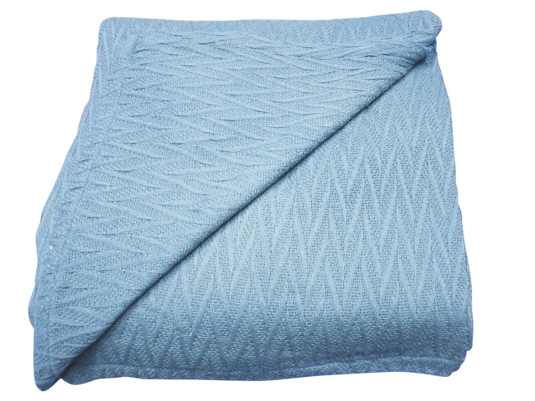 herringbone thermal cotton throw blanket. textiles plus inc herringbone thermal cotton throw blanket