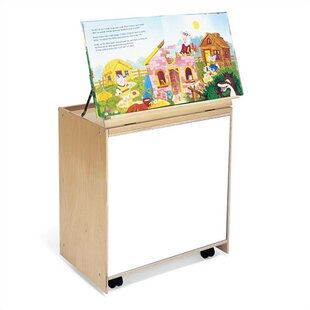 Comparison 6 Compartment Book Display with Casters By Whitney Brothers