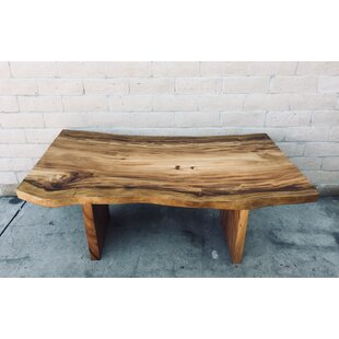 Richas Free Edge Solid Wood Dining Table Loon Peak