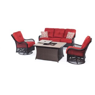 Innsbrook 4 Piece Sofa Set with Cushions by Alcott Hill