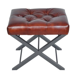 Westbrook Bonded Leather Accent Stool by Ebern Designs