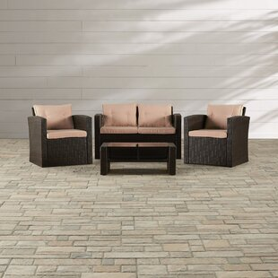Guion 4 Piece Sofa Set With Cushions by Zipcode Design 2019 Coupon