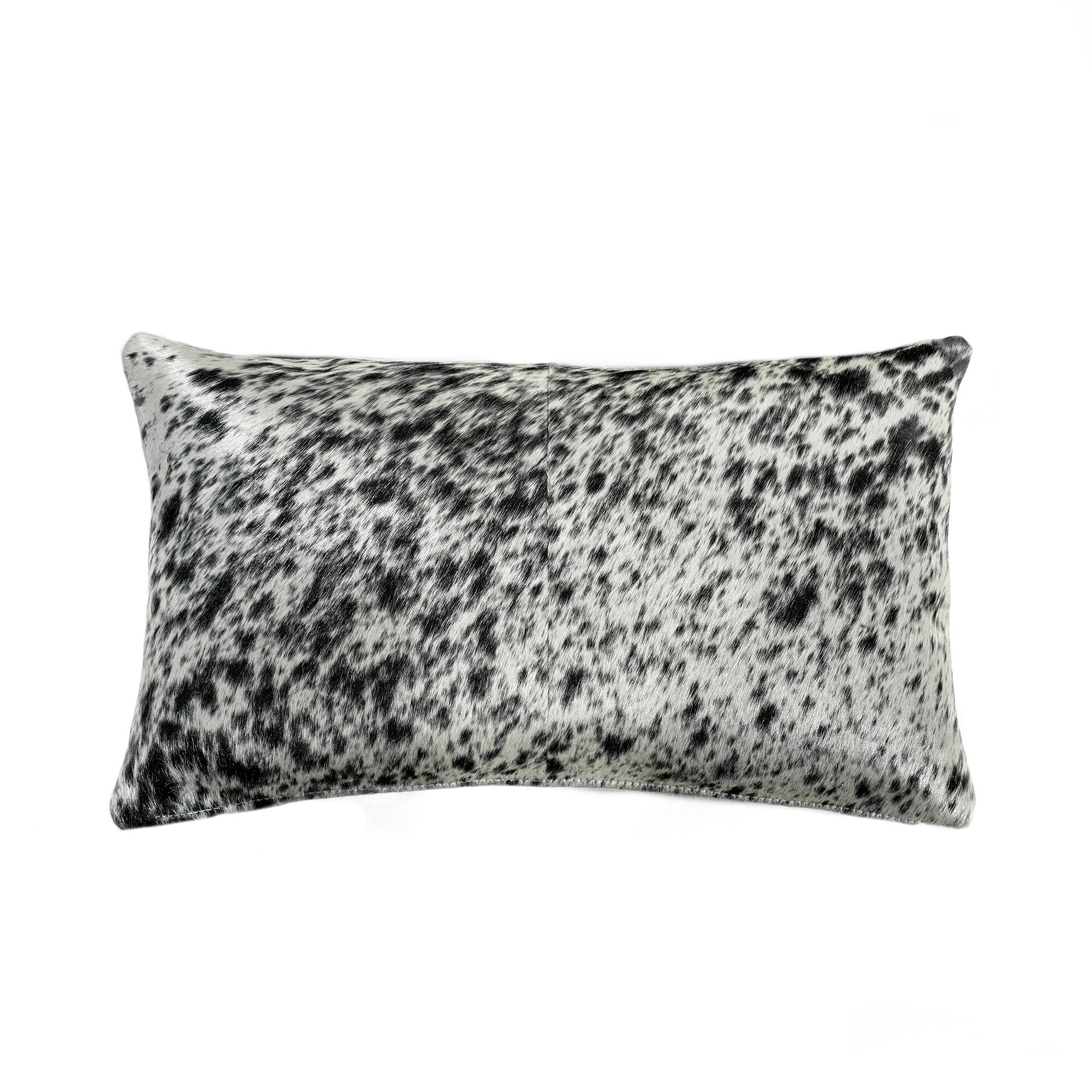 Saddlemans Salt And Pepper Rectangular Leather Suede Pillow Cover And Insert Perigold