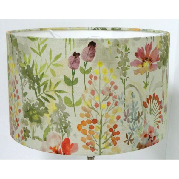 Leather Lampshades//Table lampshades//LAMPSHADES PAIR Autumn Floral Lampshades X 2