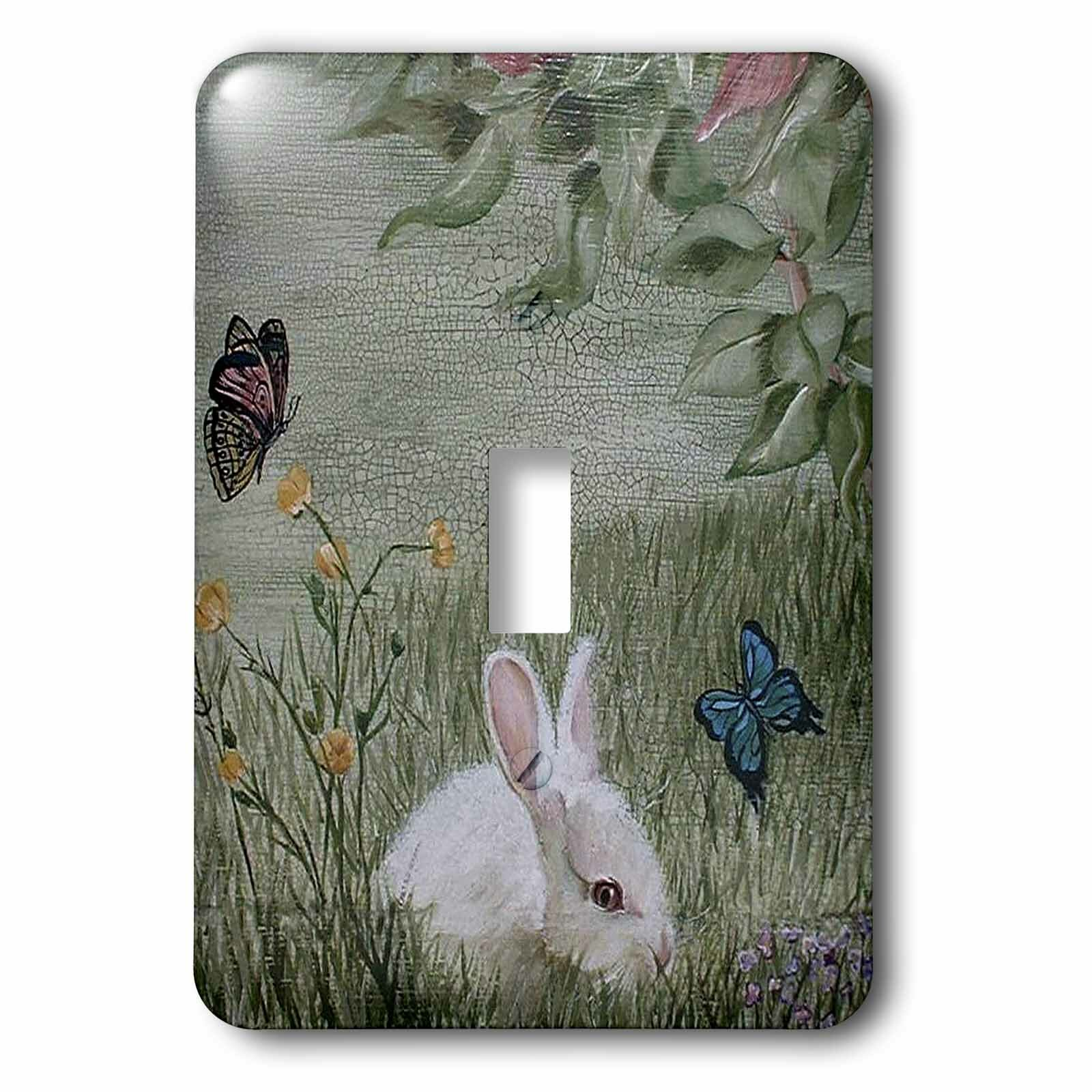 3drose Bunny Rabbit In Grass With Butterflies 1 Gang Toggle Light Switch Wall Plate Wayfair