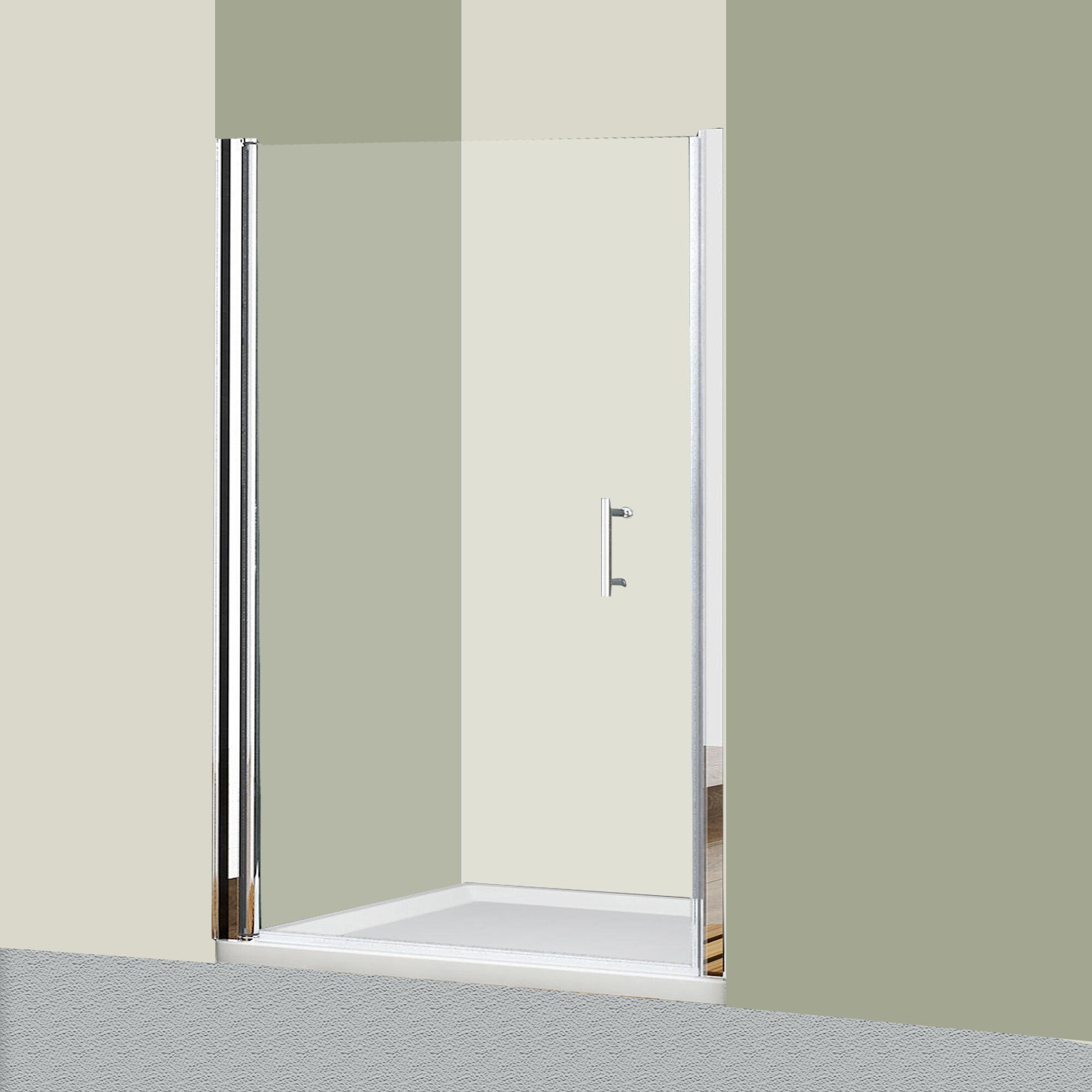 Glass 48 X 72 Pivot Frameless Shower Door