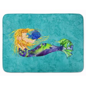 Mermaid Blonde Memory Foam Bath Rug