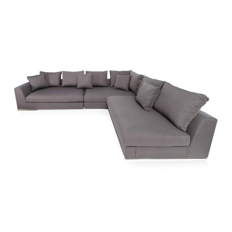moore living reversible sectional reviews allmodern. Black Bedroom Furniture Sets. Home Design Ideas